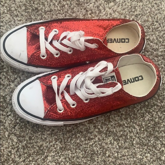 Ruby Red Converse Chuck Taylors